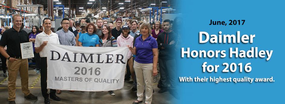 Daimler Masters of Quality 2016 Award
